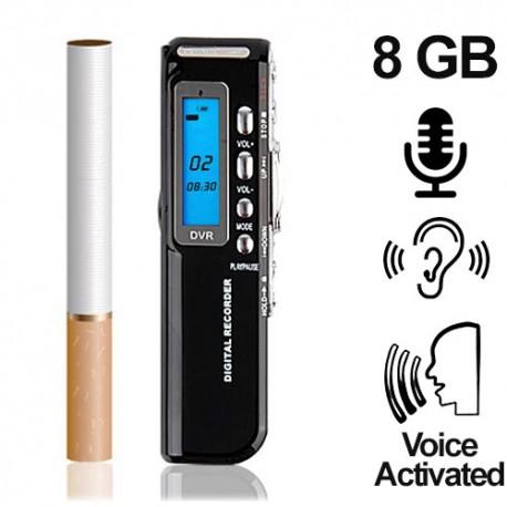 Mini-Voice-Recorder, 8 GB, bis 1200 Std. (voice-activated)