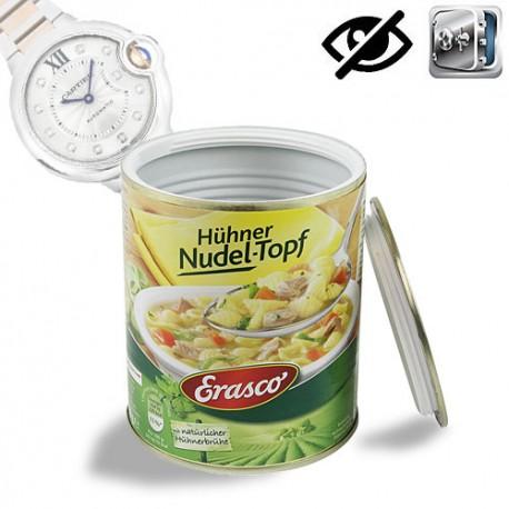 Getarnte-Versteck in Lebensmitteldose