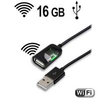 WIFI-USB-Kabel Tastatur Keylogger, 16 Gb