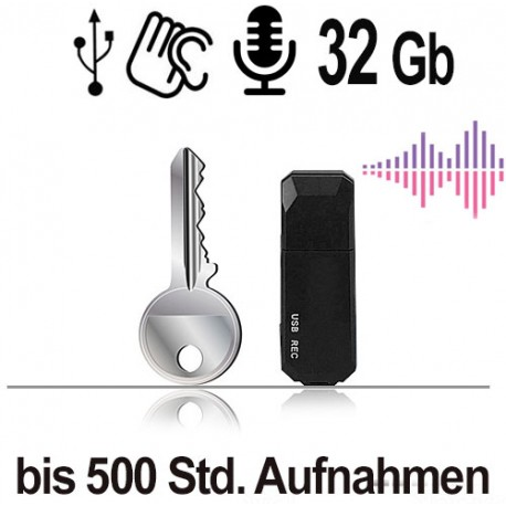 USB-Audiorecorder, 32 Gb. Ausgezeichnete Sprachqualität, HD-Aufnahme.
