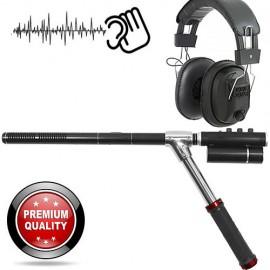 Omnidirectionales-Richtmikrofon. Optimierte Leistung, speziell für Lausch-Observationen in offenem Gelände.