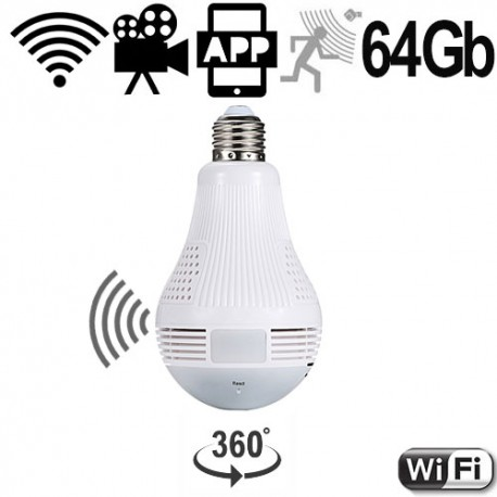 HD-Wifi-LED-SpyLampe, bis 64 Gb