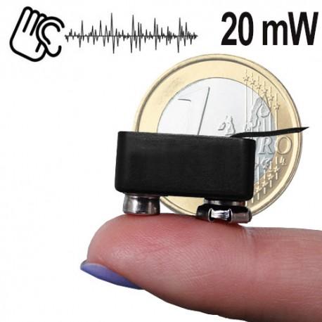 Minisender-Abhörgerät für hohe Anforderungen. Hohe Sendeleistung bis 600 mtr.