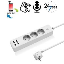 GSM-Abhörgerät in Steckerleiste (4x USB)